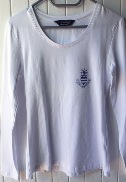 Ladies Long Sleeve White T-Shirt 220gm S - XXXL