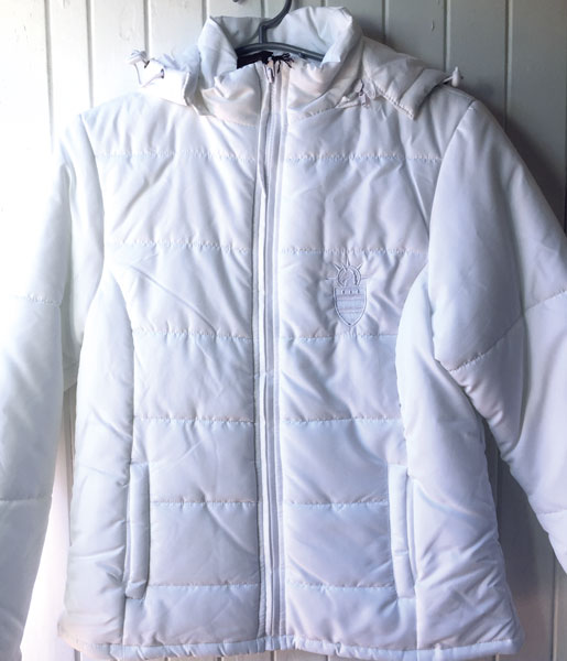 White Puffy Ladies Jacket S M L XL